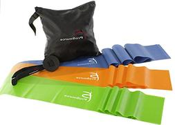 ProSource Therapy Flat Resistance Bands Set of 3  for Stretc