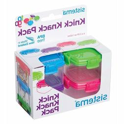 Sistema To Go Collection Mini Knick Knack Snack Container, 2