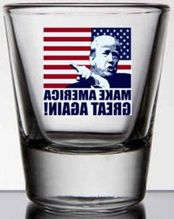 Trump MAGA 2 oz. whiskey / shot glass NEW