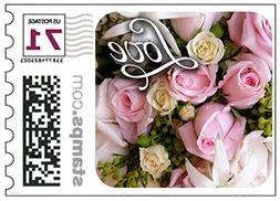 USPS Love Wedding Roses Stamps - Two-ounce stamps Sheet of 2