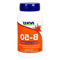 NOW Vitamin B-50 mg,100 Tablets