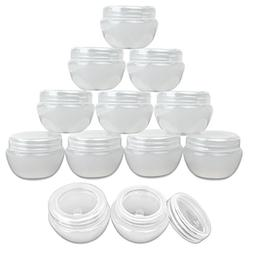 Beauticom 12 Pieces 30G/30ML  White Frosted Container Jars w