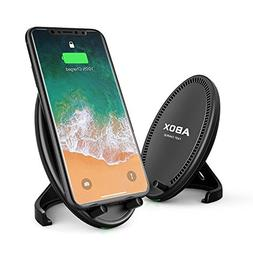 Fast Wireless Charger, ABOX Qi Wireless Charging Pad Stand w