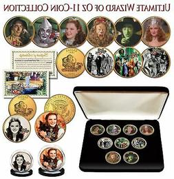 WIZARD OF OZ Kansas Quarter Gold Plated ULTIMATE 9-Coin Set